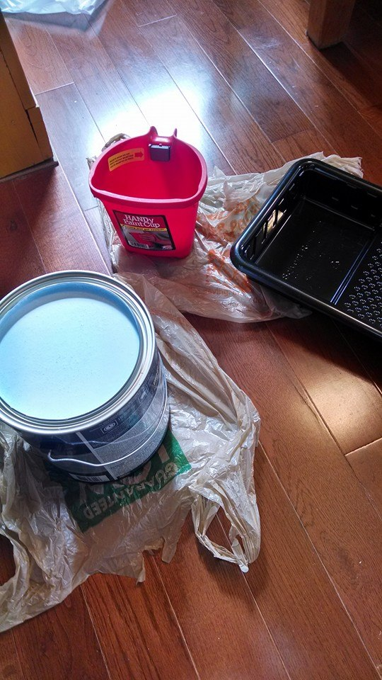 Updating with paint, color in the kitchen