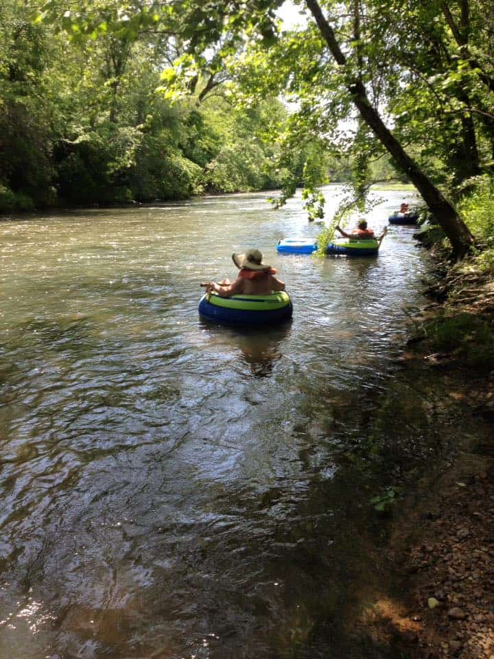 Creek floating, inner tube floating, floating Alabama