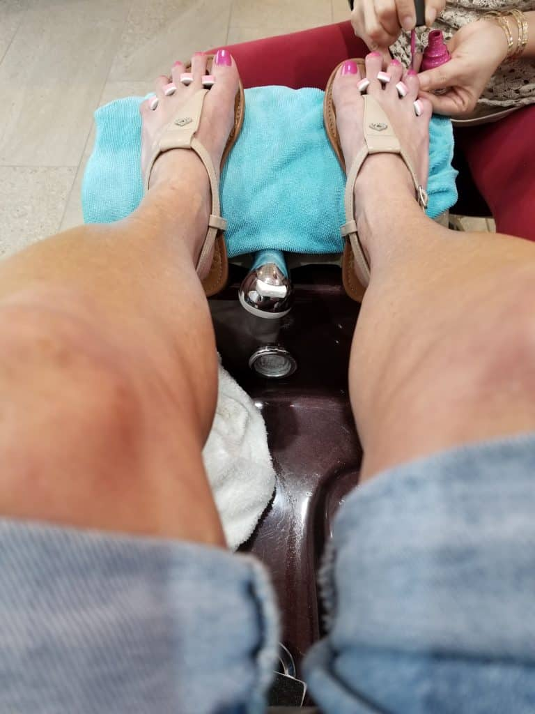luxury, pampered, pedicure