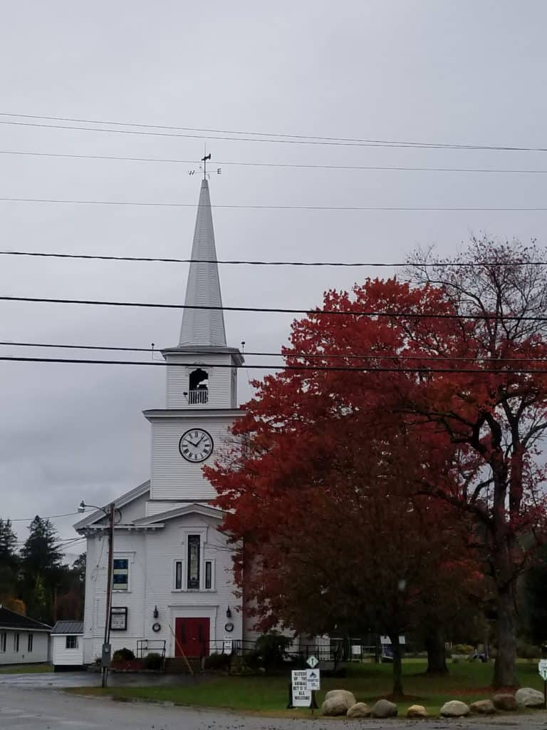 Fall in New England, Warren New Hampshire, Little White Church