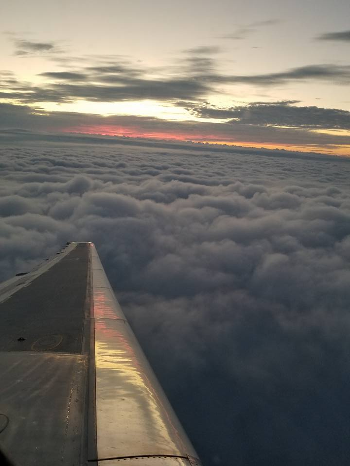 vacation, above the clouds, sunrise, airplane pictures