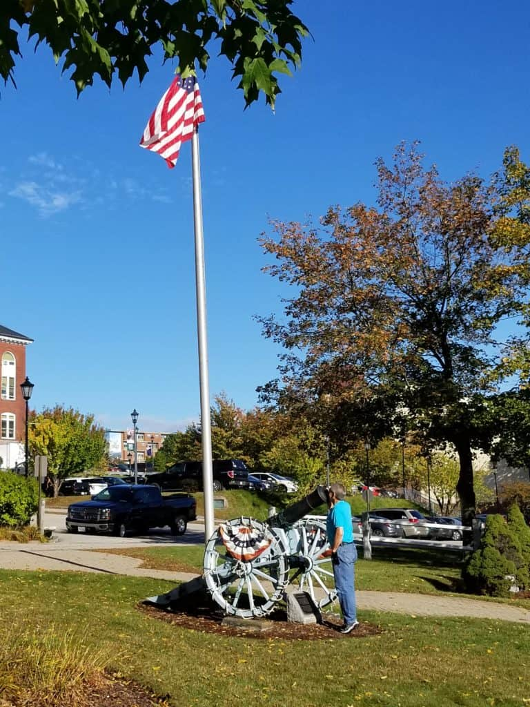 Plymouth New Hampshire, Cannon captured by General Stark, Revolutionary War, Plymouth Town Hall