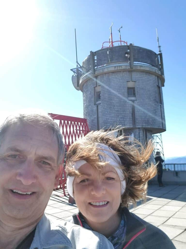 New England, Fall in New England, New Hampshire, Cog Railway, Mount Washington, NH State Park, Observatory Deck