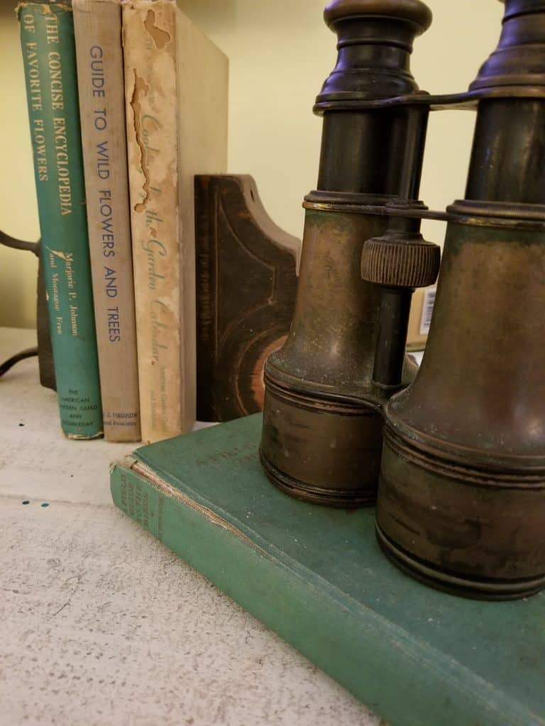 Antique Binoculars, Vintage Books