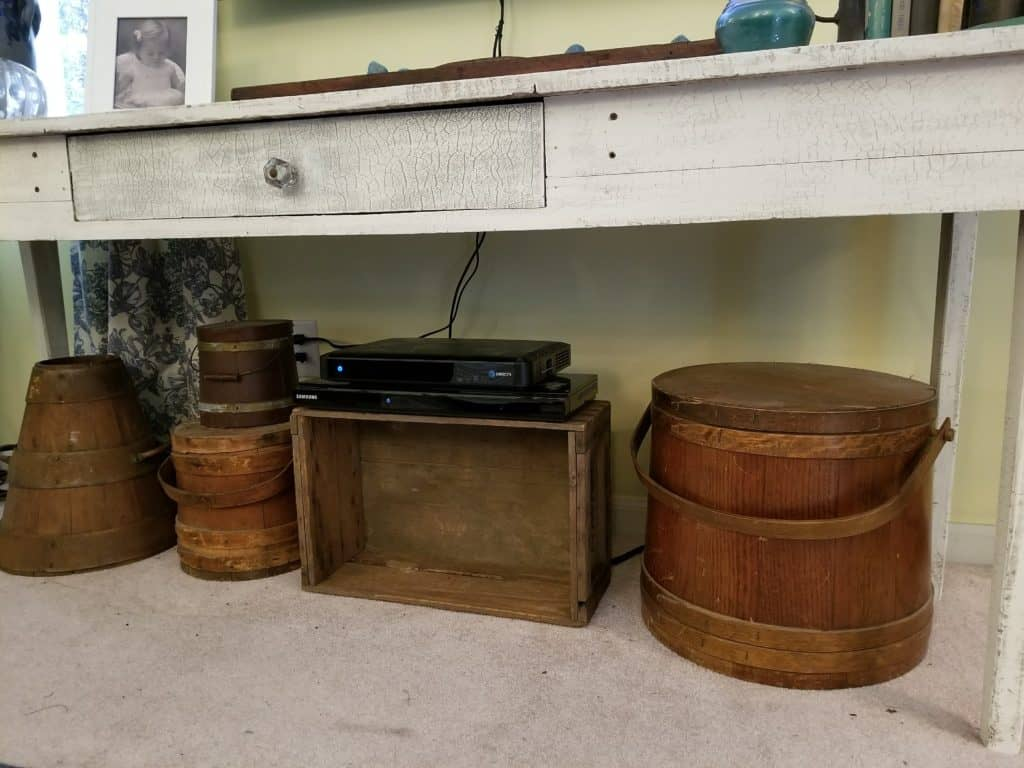 Wood Boxes, Wood Buckets, Styling a long table,
