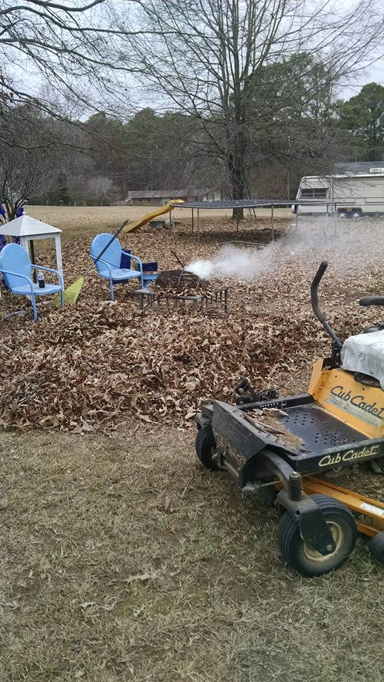 fall cleanup, raking leaves, composting leaves, burning leaves, oak leaves,