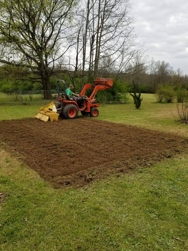 Plowing a garden, Hiring a neighbor with a tractor, Garden Preparation