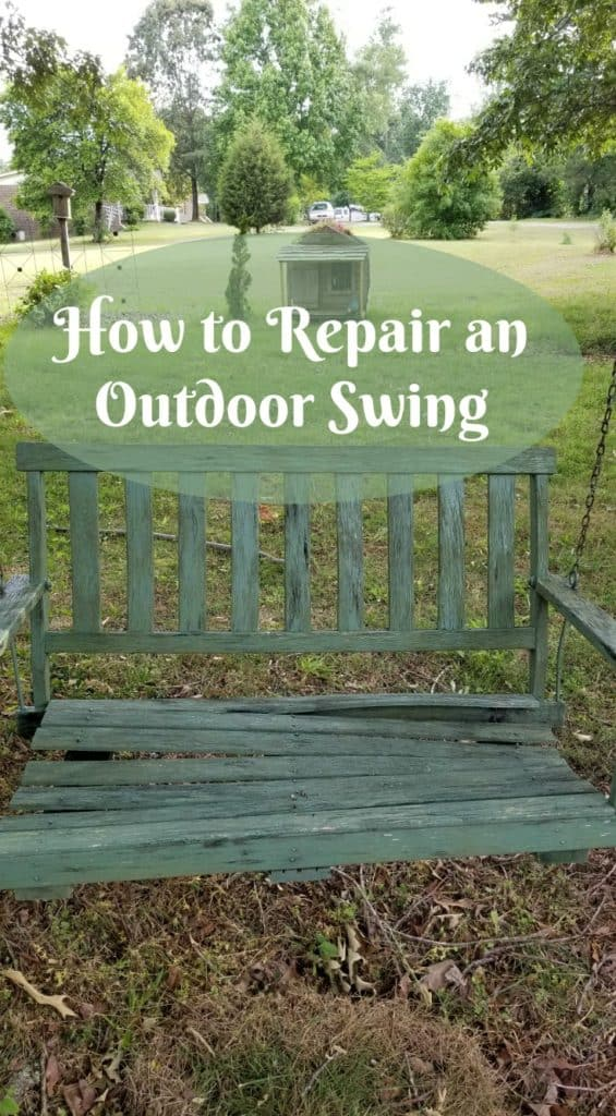 How to repair an outdoor swing, outdoor swing repair, wood swing repair, how to repair rotten wood swing