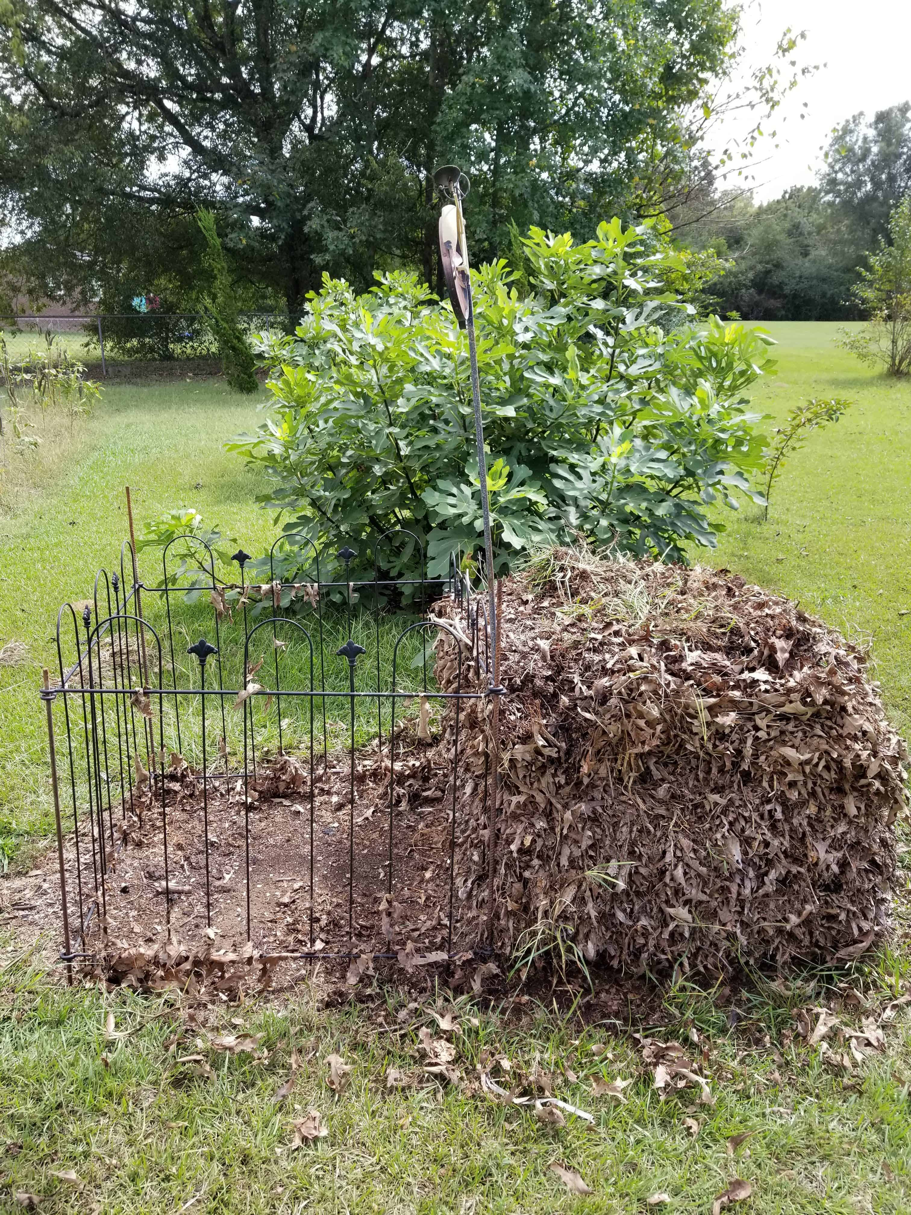 Fall is the perfect time to begin a compost pile from all the free ingredients of falling leaves