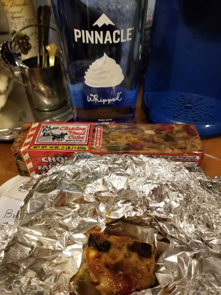 How to make store bought Fruit Cake taste homemade with Pinnacle Whipped Cream Vodka