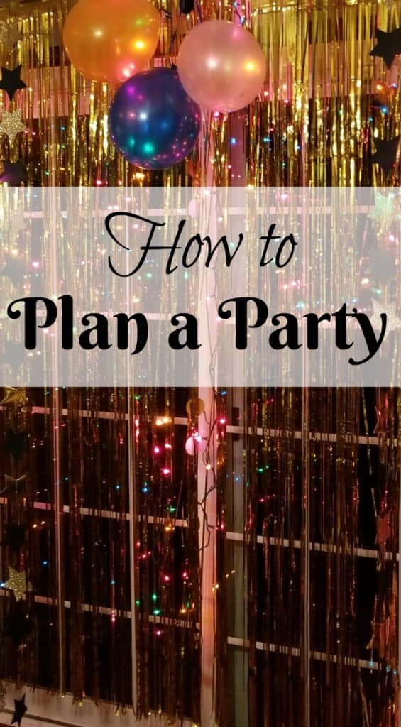 How to Plan a Party using THE LIST MAKER