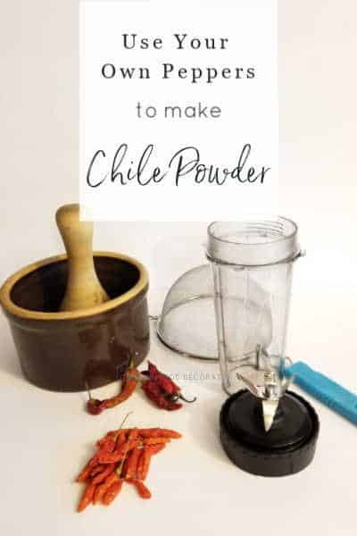 Use your own peppers to make chile powder