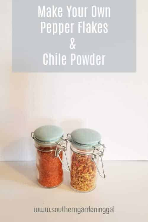 Make your own Pepper Flakes and chile powder from dried hot peppers